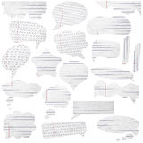 Bolhas de papel do discurso Imagem de Stock Royalty Free
