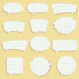 Bolhas de papel do discurso Foto de Stock