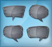 Bolhas de pedra cômicas do discurso ilustração stock