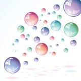 Bolhas de sabão Imagem de Stock