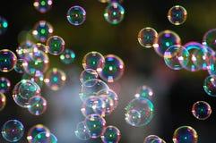 Bolhas de sabão Fotografia de Stock