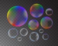 Bolhas de sabão ajustadas Imagens de Stock