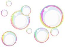 Bolhas de sabão do arco-íris ilustração royalty free