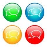 Bolhas de uma comunicação Foto de Stock
