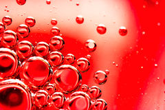 Bolhas de vista abstratas do óleo e da água Foto de Stock