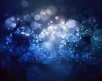 Bolhas do azul do fundo do grunge de Bokeh Fotos de Stock Royalty Free