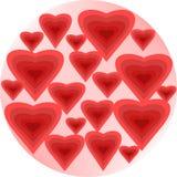 Bolhas do coração Imagens de Stock