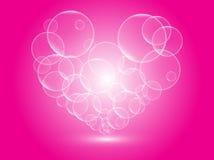 Bolhas do coração Fotos de Stock Royalty Free