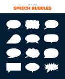 12 bolhas do discurso ilustração royalty free