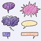 Bolhas do discurso ilustração stock