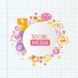 Bolhas do discurso com ícone app Ilustração do vetor Fotografia de Stock Royalty Free