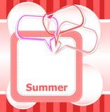 Bolhas do discurso das horas de verão e do sumário do cartaz olá! ajustadas ilustração royalty free