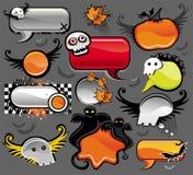 Bolhas do discurso de Halloween Fotografia de Stock
