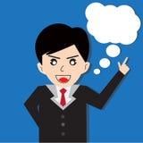 Bolhas do discurso do homem de negócio Imagem de Stock