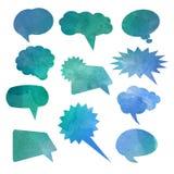 Bolhas do discurso do Watercolour ilustração stock