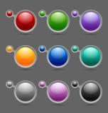 Bolhas do molde do botão ou do ícone Fotos de Stock Royalty Free