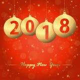 bolhas 2018 do Natal do ano novo Imagens de Stock Royalty Free