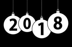 bolhas 2018 do Natal do ano novo Imagem de Stock Royalty Free