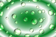 Bolhas e redemoinho verdes Fotos de Stock Royalty Free