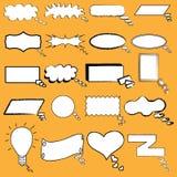 Bolhas em branco ilustradas do discurso dos desenhos animados Foto de Stock