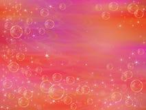 Bolhas em um fundo cor-de-rosa Foto de Stock Royalty Free