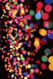 Bolhas iluminadas da cor Fotografia de Stock Royalty Free