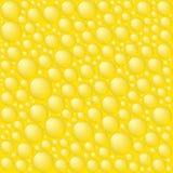 Bolhas no fundo amarelo. ilustração do vetor