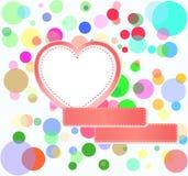 Bolhas românticas da decoração dos corações do amor Fotos de Stock Royalty Free