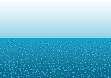 Bolhas sob a água ilustração do vetor