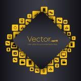 Bolhas vazias do discurso do vetor criativo abstrato do conceito Para a Web e aplicações móveis Fotos de Stock Royalty Free