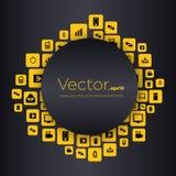 Bolhas vazias do discurso do vetor criativo abstrato do conceito Para a Web e as aplicações móveis isoladas no fundo Imagens de Stock Royalty Free
