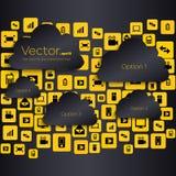 Bolhas vazias do discurso do vetor criativo abstrato do conceito Para a Web e as aplicações móveis isoladas no fundo Foto de Stock