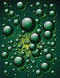 Bolhas verdes Imagem de Stock Royalty Free