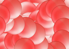 Bolhas vermelhas Fotografia de Stock Royalty Free