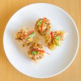 Bolinha de massa da carne de porco e do camarão Fotografia de Stock