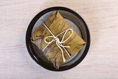 Bolinha de massa/zongzi do arroz Fotos de Stock Royalty Free