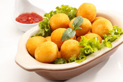 Bolinha de queijo. Tradition in children's party in Brazil Royalty Free Stock Photo