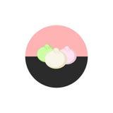 Bolinhas de massa chinesas, ícones asiáticos de Dim Sum do alimento ajustados Alimento chinês ícone Estilo liso Imagens de Stock Royalty Free