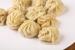 Bolinhas de massa chinesas - Momo imagens de stock
