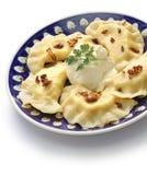 Bolinhas de massa de Pierogi, alimento polonês Foto de Stock Royalty Free