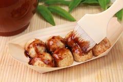 Bolinhas de massa do polvo/Takoyaki Fotografia de Stock