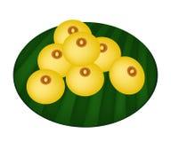 Bolinhas de massa encantadores deliciosas da farinha da lua ou de arroz com gemas ilustração stock