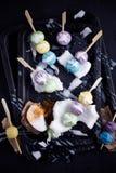 Bolinhas de massa no creme do coco, sobremesa de Tailândia Foto de Stock Royalty Free