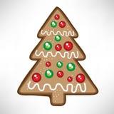 Bolinho da árvore de Natal Fotografia de Stock