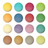 Bolinho de amêndoa colorido Fotos de Stock Royalty Free