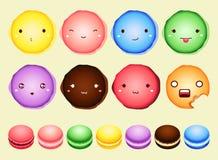 Bolinho de amêndoa da emoção colorido Fotos de Stock Royalty Free