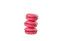 Bolinho de amêndoa francês cor-de-rosa Fotos de Stock Royalty Free