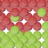 Bolinho de amêndoa verde vermelho do Natal Foto de Stock Royalty Free
