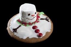 Bolinho de derretimento do boneco de neve Fotografia de Stock