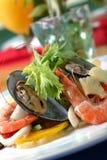Bolinho de massa chinês do Sup do camarão Fotografia de Stock